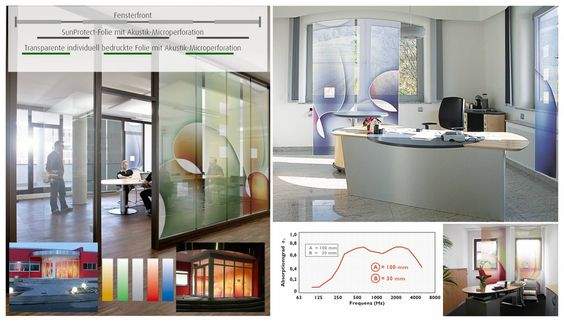 vitAcoustic - Akustikvorhänge Schallschutz und motivierende Büro - design schallabsorber trennwande