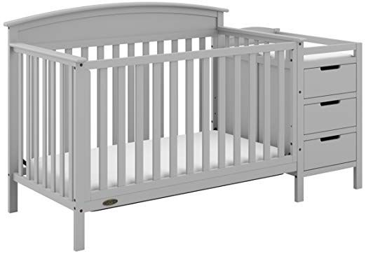 Graco Benton 5 In 1 Crib Changer Pebble Gray Easily Converts To Toddler Bed Day Bed Or Full Bed 3 Position Adju Cribs Convertible Crib Headboards For Beds
