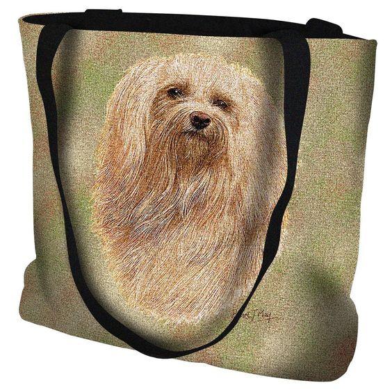 Havanese Dog Portrait Tote Bag