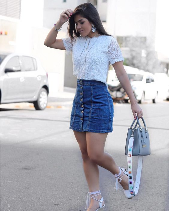Looks com saia jeans (11)