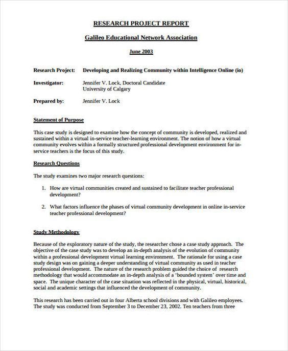 Project Report Formats Reporttemplates Project Report Formats