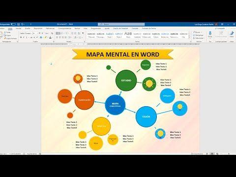 Como Hacer Un Mapa Mental En Word Youtube Como Hacer Mapas Mentales Mapas Mentales Mapa Mental