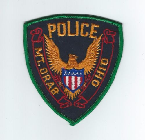 mt orab oh police patch police patches patches police pinterest