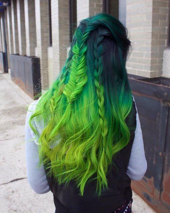 30 Green Hair Color Ideas Color Green Hair Ideas In 2019