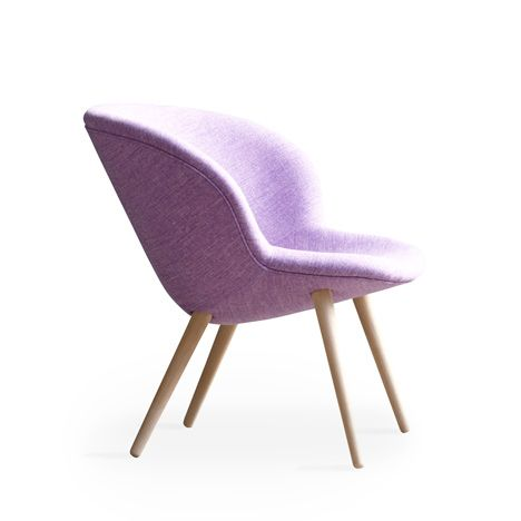 Chaise parme rétro -  Purple Capri lounge by Busk and Hertzog for +Halle