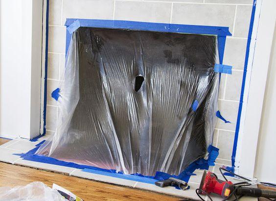 brick interior spray painting fireplaces bricks sprays paintings. Black Bedroom Furniture Sets. Home Design Ideas