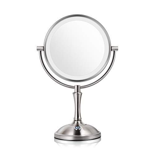 Makeup Mirror With Lights Lighted Makeup Mirror Led Vanity Mirror 7x Magnifying Magnified Double Sided Makeup Mirror Adjustable Cool White Light Mirror Large Makeup Corded Cordless Mirror Makeup Mirror With Lights