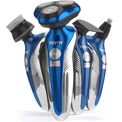 Venyn 4 In 1 Richor Rotatory Electric Shaver Works For Wet Dry Beard Body Hair Trimmer Water Resistant In 2020 Dry Beard Best Electric Shaver Body Hair Trimmer