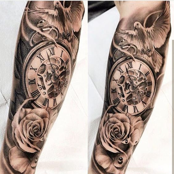 Tattoos For Men Wrist Rose Tattoo Wrist Hour Tattoo Best Tattoos For Men Cool Tattoos For Guys Tattoos For Guys Watch Tattoos