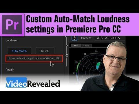 Custom Auto Match Loudness Settings In Adobe Premiere Pro Cc