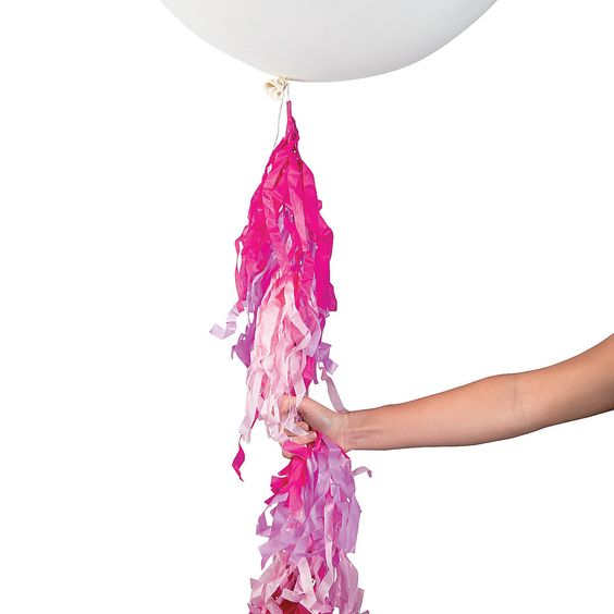 Hot pink balloon tassel balloon accessories balloons for Arabian decoration materials trading