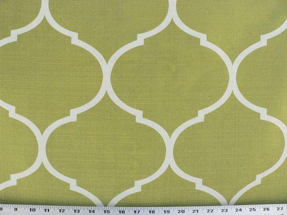 Kiwi Green Fabric, Green/Ivory Fabric, Green/Kiwi Drapery/Upholstery Fabric,  Designer Home Decor Fabric. (1) Yard 36u0027u0027 54u0027u0027 Width Etsy $29/yd