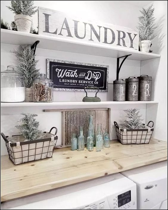 127+ laundry room decorating ideas to help organize space 22 ~ mantulgan.me