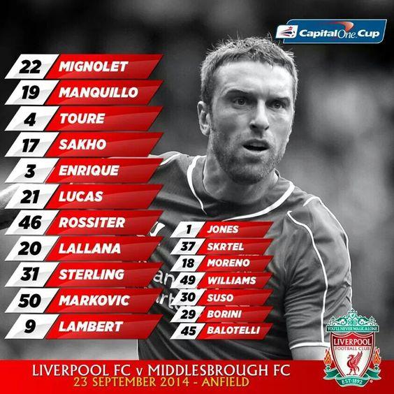 Liga Cup. Liverpool vs Middelsbrough