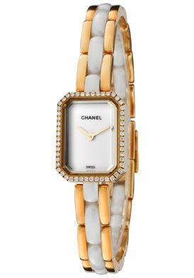 Chanel H2435 Watches,Women's Premiere White Diamond 18k Solid Gold & White High-Tech Ceramic, Women's Chanel Quartz Watches