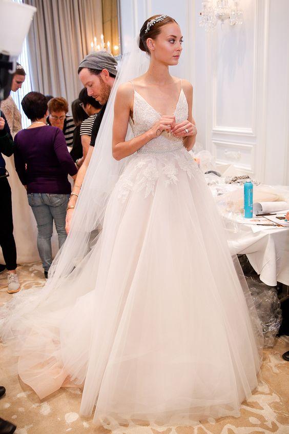 Monique Lhuillier - Spring summer 2016 bridal shows in New York   Best wedding dresses from Marchesa, Oscar de la Renta, Carolina Herrera   Harper's Bazaar