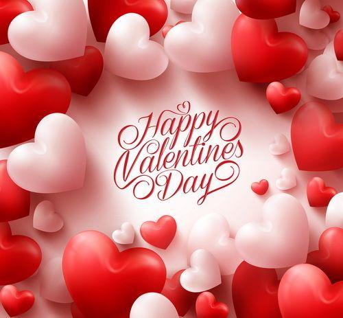 Cadre De Ballon Coeur Avec Vecteur De Fond De Saint Valentin
