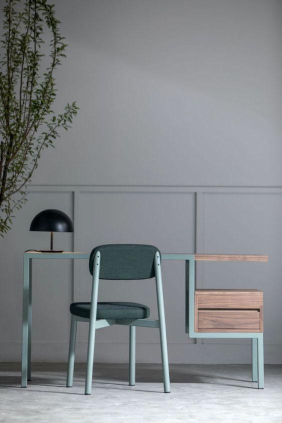 Ktab Le Bureau Bi Matiere Par Le Designer Et Architecte Jose Pascal Zaidan Pour Kann Design Journal Du Design Maison Et Objet Bureau Ancien Tendances Deco Salon