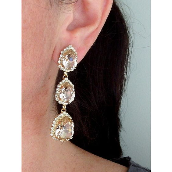 Blush earrings,long chandelier earrings,blush bridal earrings,blush... (12270 RSD) ❤ liked on Polyvore featuring jewelry, earrings, long bridal earrings, bridal chandelier earrings, gold chandelier earrings, bridal earrings and chandelier earrings