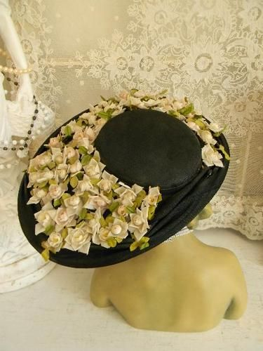 Asymetrical Wide Brim Millinery Flowers Dress Hat 1930s 1940s on eBay