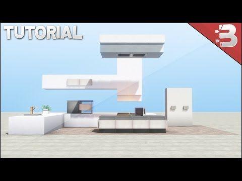 Minecraft Modern Kitchen Tutorial  Youtube  Architecture Delectable Minecraft Modern Kitchen Designs Design Ideas