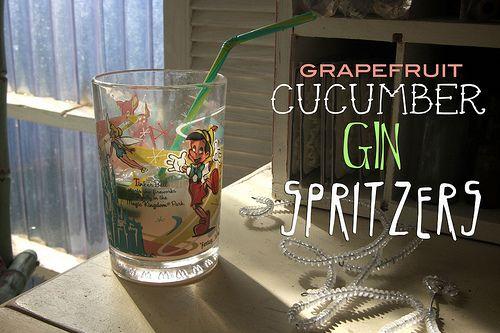 cucumber gin spritzers
