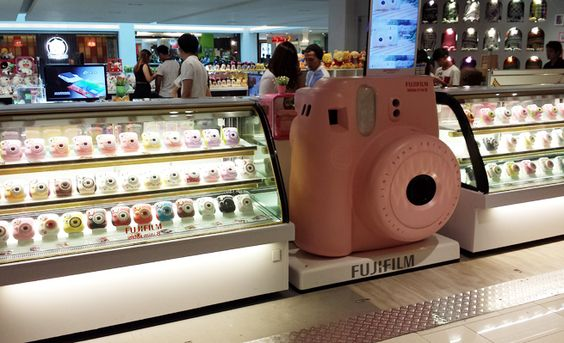 I think this is a Fujifilm Instax Camera store in Japan. It looks like heaven! ^-^ @thej3nni