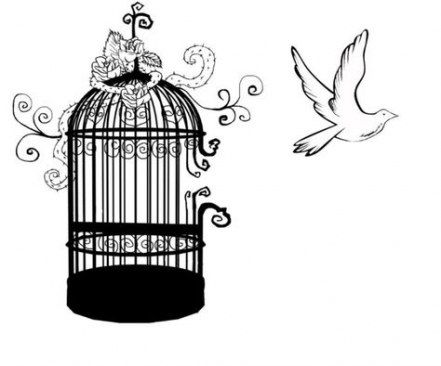 Pin By Jenicutiekumar On Sketches Cage Tattoos Birdcage Tattoo White Bird Tattoos