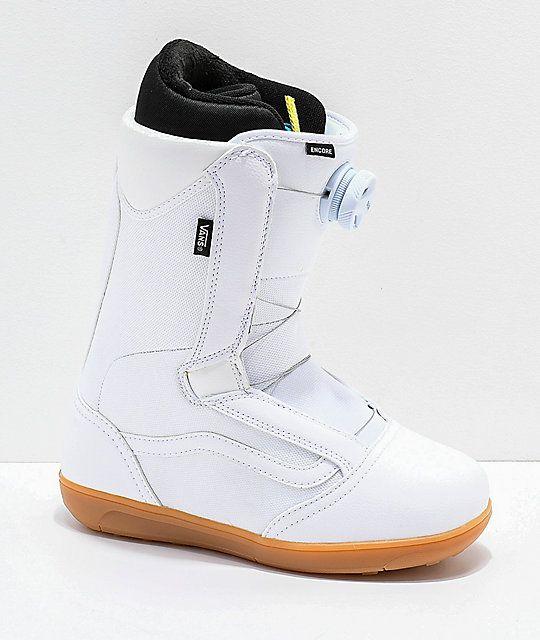 Vans Womens Encore White & Gum Snowboard Boots 2019 | Boots