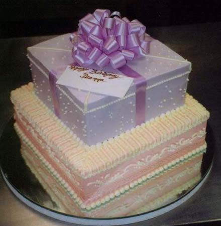 Edible Present Cake from Stack Bistro Pastry & Cake.  www.StackBistro.com
