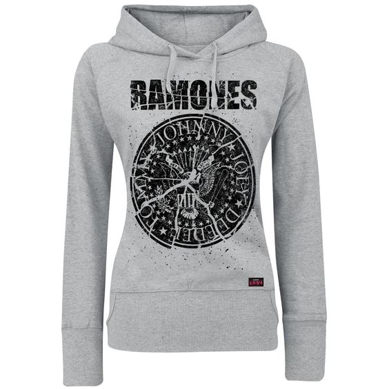 "Ramones Girl-Kapuzenpulli ""Shattered"" Frauen grau meliert - jetzt kaufen! EMP"