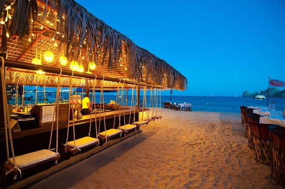 Beach bar with swings Cabo San Lucas Resorts and Villas