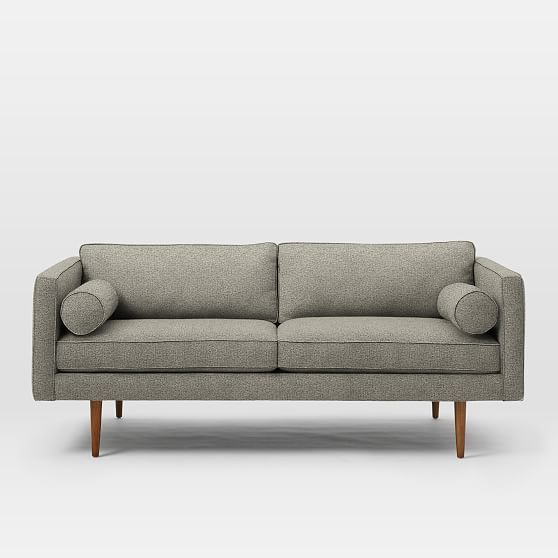 Super Monroe Mid Century Loveseat Twill Gravel At West Elm Caraccident5 Cool Chair Designs And Ideas Caraccident5Info