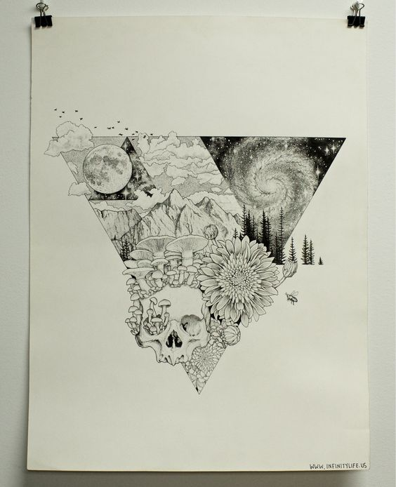 """""""Transcendence, Microns, A2, many hours and lots of dots, one of my favorite creations to date"""""""