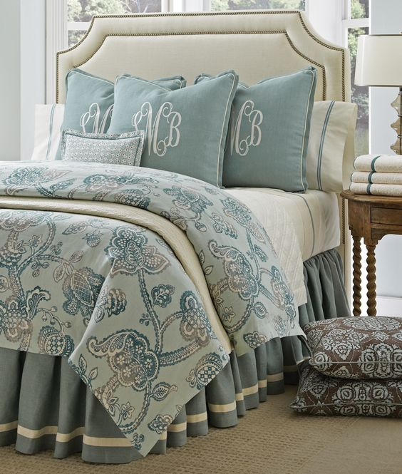 Liliana Mineral - combines calming sea glass hues with creams and taupes. Available at Protocol.