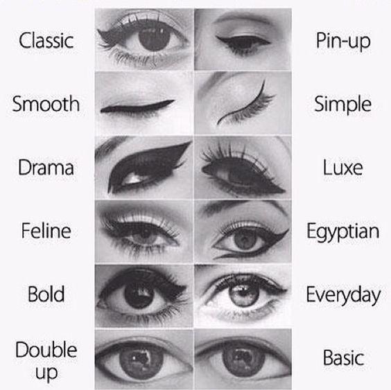 different liquid eyeliner styles make up pinterest