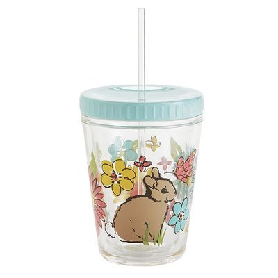 Easter Bunny Kid's Acrylic Tumbler with Straw