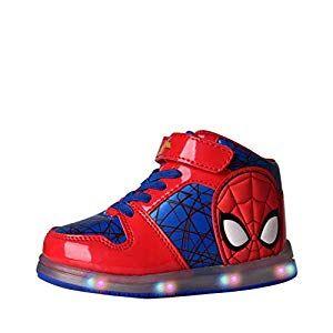 Toddler//Little Kid Favorite Characters Boys Marvel Avengers Lighted Sneaker