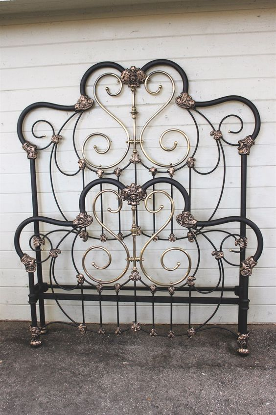 Best Iron Bed Frames Antique Headboard And I Love On Pinterest 400 x 300