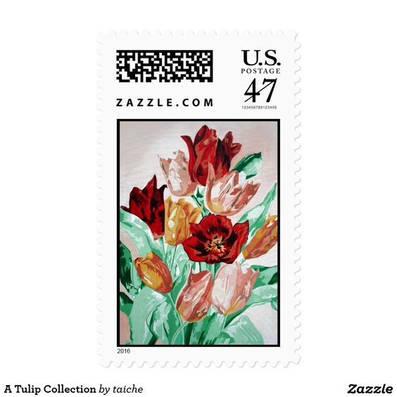 A Tulip Collection Postage Stamp