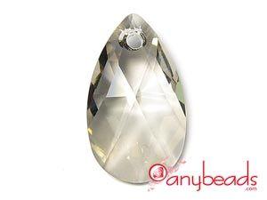Silver Shade - Austrian Swarovski Crystal Elements 6106 Almond Pendant 22mm