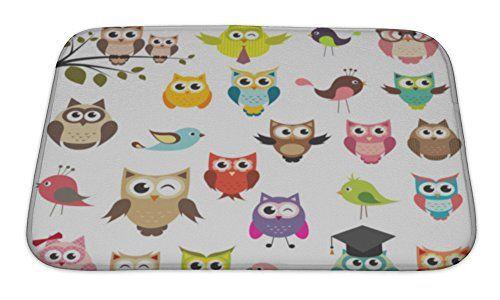 Gear New Set Of Owls Bath Rug Mat No Slip Microfiber Memory Foam Bath Rug Mat Rugs Memory Foam