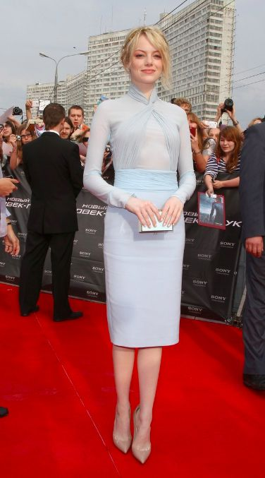 Mark D. Sikes: Chic People, Glamorous Places, Stylish Things  EMMA STONE IN PALE BLUE EMILIO PUCCI