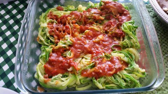 Kaqfez: Espagueti de abobrinha