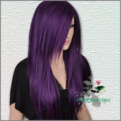 long and purple: Hair Ideas, Purple Hair, Hair Colors, Shades Of Purple, Colored Hair, Hair Styles, Haircolor, Hairstyle, Hair Colour