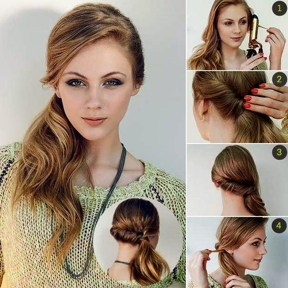 Penteado bom é aquele que além de simples fica divino! ;) #penteado #hair #DIY: