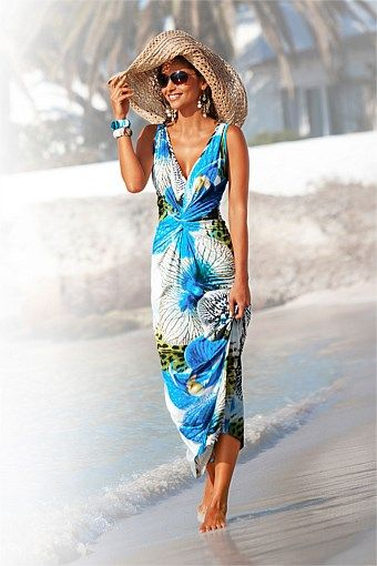 Dresses | Buy Women's Dresses Online - Heine Flower Print Maxi ...