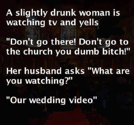 Wife is a drunk