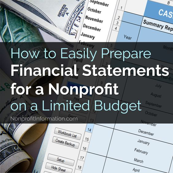 How To Easily Prepare Financial Statements For A Nonprofit Charity Work Ideas Financial Statement Charity Work