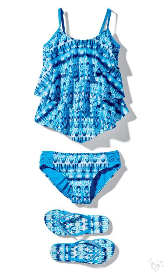 A match made in pool party heaven: a fun flouncy tankini ...